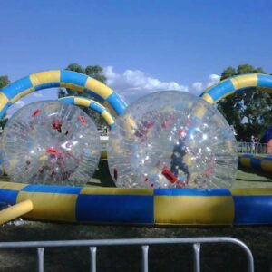 Zorb Balls with Inflatable Track (1)